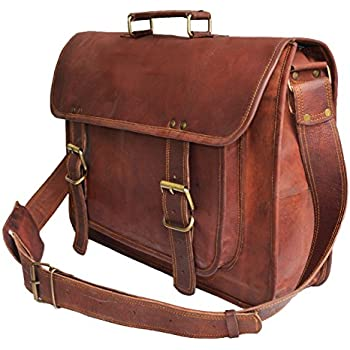 Amazon.com: El-Cuero VIntage Leather laptop messenger bag man bag ...