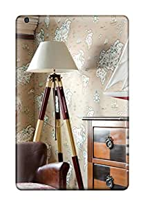 Christmas Gifts 1948318J92634925 Snap-on Travel-inspired Room With Tripod Floor Lamp Case Cover Skin Compatible With Ipad Mini 2