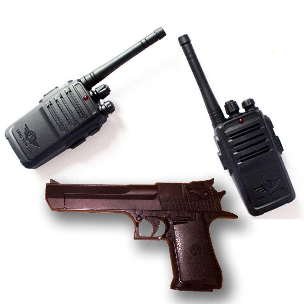 CAR SHUN Walkie Talkie con Il binocolo per i Bambini-Voice attivato Talkie walkie per Ragazzi o Ragazze, Set,sandhawksuit