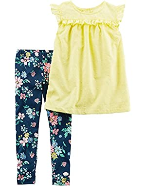 Baby Girls' 2-Piece Shirt and Leggings Set