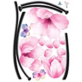 Easy Instant Home Decor Wall Sticker Decal – Romantic Pink Flowers, Baby & Kids Zone