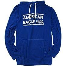 American Eagle Men's Thin Hoodie Long Sleeve T-Shirt M-31