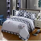 Cliab Pirate Bedding For Boys Twin Applique Duvet Cover Set 100% Cotton 4 Pieces