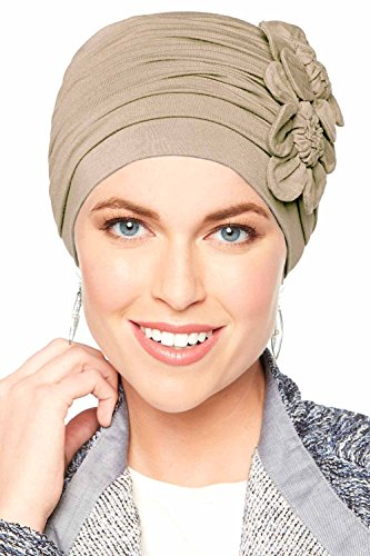 Cardani Flapper Turban - Vintage Flapper Hat in Soft Bamboo Luxury Bamboo - French Beige
