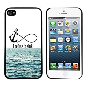 ABC 1pcs Newest Cute Hard Case for Iphone 4s (I Refuse To Sink)