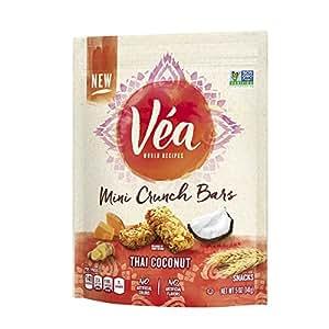 Amazon.com: Vea Snacks Mini Crunch Bars, Thai Coconut, 5 Ounce