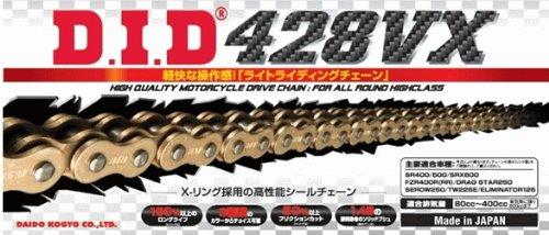 ∽カット済み DIDシールチェーン428VX-126L《ゴールド》カシメジョイント/カワサキ (200cc) KMX200【年式87-】   B007BDKRXY