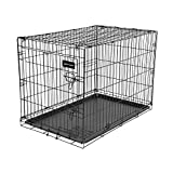 Ruff Maxx REM42C 42-Inch L by 26-Inch W by 28.5-Inch H Wire Kennel, Extra Large (Black)