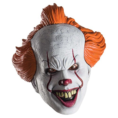 Largemouth Men's IT Pennywise The Clown Costume Mask (One (Pennywise Clown Mask Costume)