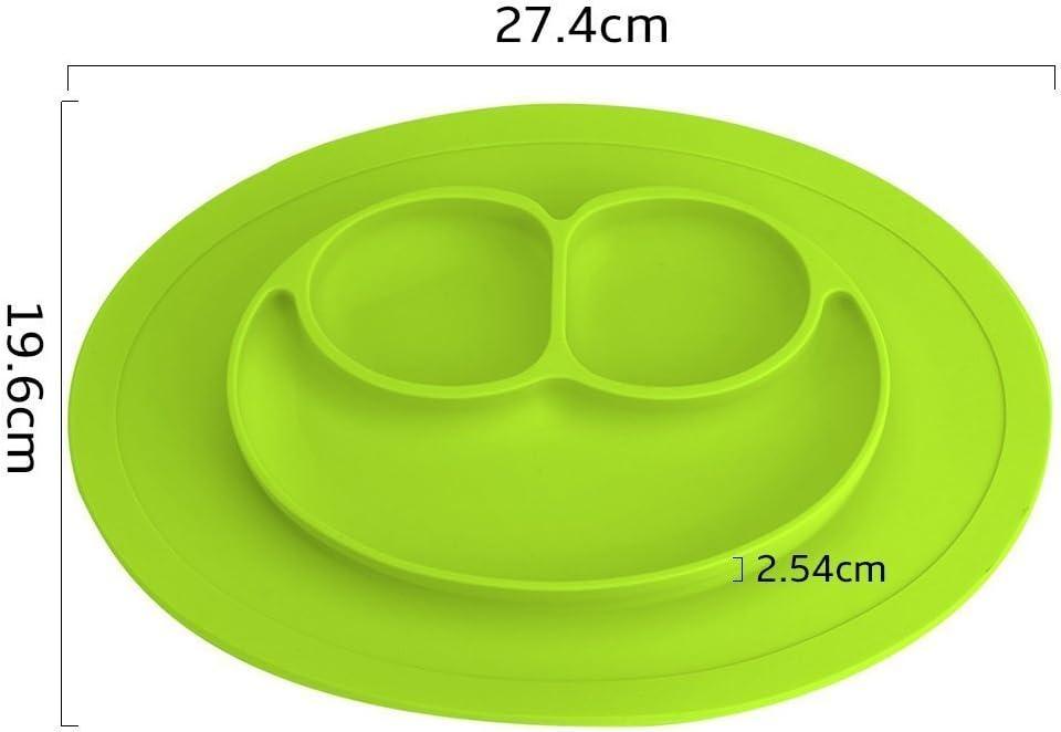 Assiettes en silicone b/éb/és Nourrissons Aspiration Forte /à Table Adapt/é au Lave-vaisselle et au Four /à Micro-Ondes pour B/éb/é Enfant Bleu