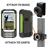"Frogger Golf - Record Golf Swing Phone Latch-It - Universal Smart Phone Holder Attachment to Golf Bags and Golf Carts | Part of the 2017 PGA Merchandise Show ""Best Latch-It Ecosystem"