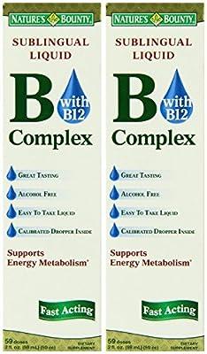 Nature's Bounty Vitamin B Complex sublingual Liquid, 2 Oz (Pack of 2)
