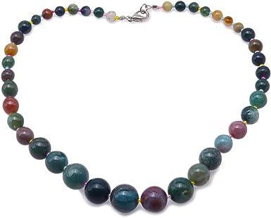 Ladies Multi Colour Round Bead Necklace
