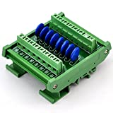 Chunzehui DIN Rail Mount 60V SIOV Metal Oxide Varistor Interface Module, 8 Channels Individual.
