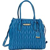 v19.69 Italia Womens Handbags Sofia Top Handle Purse Blue Berry