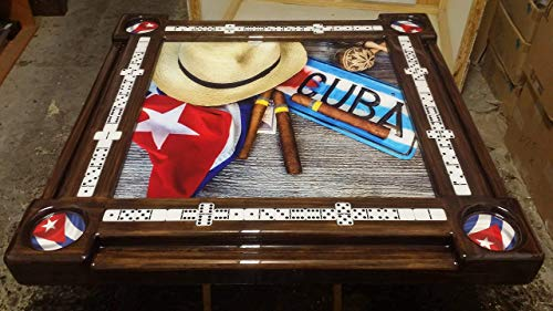 Cuban Life Collage Domino Table by Domino Tables by Art