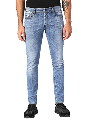 Diesel Men's Jeans Sleenker Denim Pants Slim Skinny fit Cotton Blue 00S7VG-0688C-01 (W 36 - L 32) ()