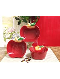 Investment APPLE 3-D, 3-Piece Mixing Bowl 8-1/4