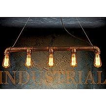 WINSOON INDUSTRIAL STEAMPUNK LAMP IRON PIPE CEILING ISLAND FIXTURE PENDANT LIGHT VINTAGE Retro (Bronze)