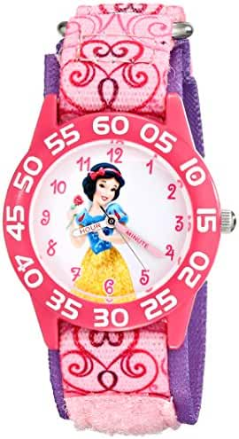 Disney Kids' W001950 Princess Analog Display Analog Quartz Pink Watch