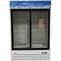 NSF Two glass door refrigerator Refrigerated Cooler RESTAURANT EQUIPMENT