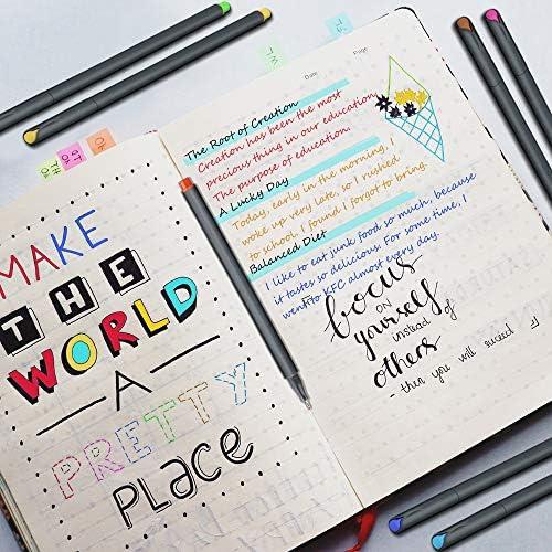 MyLifeUNIT Fineliner Color Pen Set, 0.4mm Colored Fine Liner Sketch Drawing Pen, Pack of 10 Assorted Colors 6