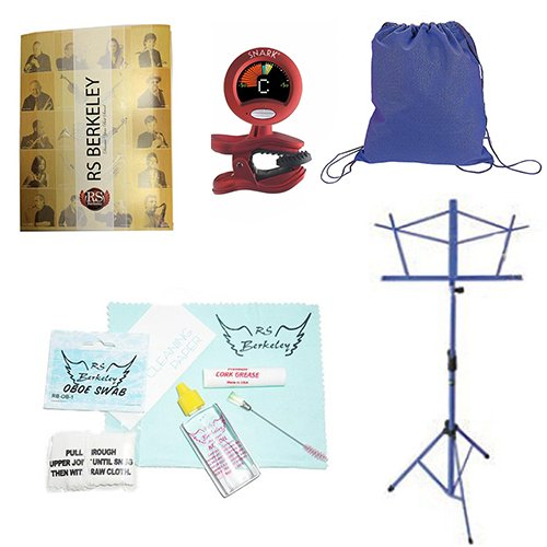 Back to School Oboe Accessory Pack - Includes: Drawstring Backpack, Oboe Care Cleaning & Maintenance Kit, Band