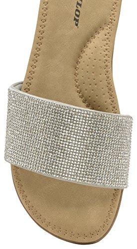 Dunlop Femme Sandales Sandales Dunlop pour pour pour Femme Sandales Silver Silver Dunlop gwxaqTCwf