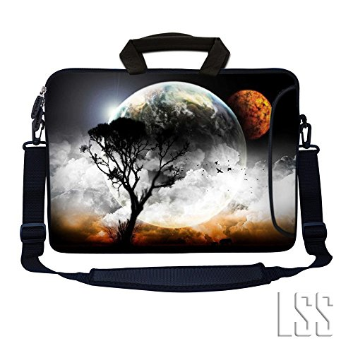 LSS 17 inch Laptop Sleeve Bag Notebook with Extra Side Pocke