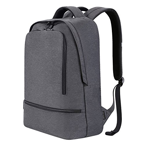 dc96dd52768 REYLEO Slim Laptop Backpack Business backpack for 14 inch Laptop Men Women  Lightweight Daypack for College Work Travel Grey Bag RB03