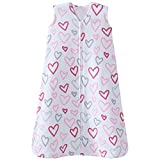 Halo 100% Cotton Sleepsack Wearable Blanket, Modern Pink Hearts, Medium