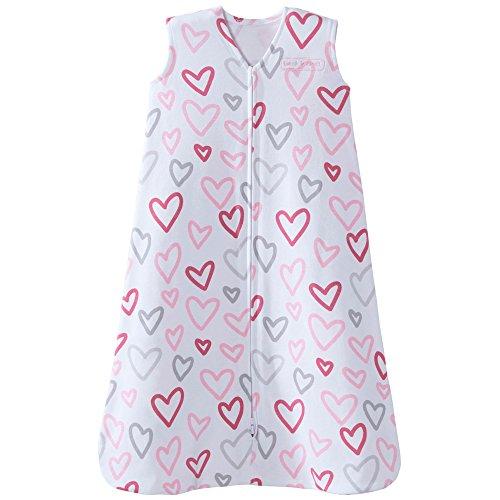 Halo 100% Cotton Sleepsack Wearable Blanket, Modern Pink Hearts, (Modern Heart)