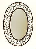 Ashton Sutton Wall Mirror, Large Oval, Wrought Iron