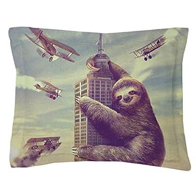 Slothzilla, Sloth, Animal, Pillow Cover, Sham Cover, Pillow Case, Made In Usa (Standard 30'' X 20'') - Sharp Shirter