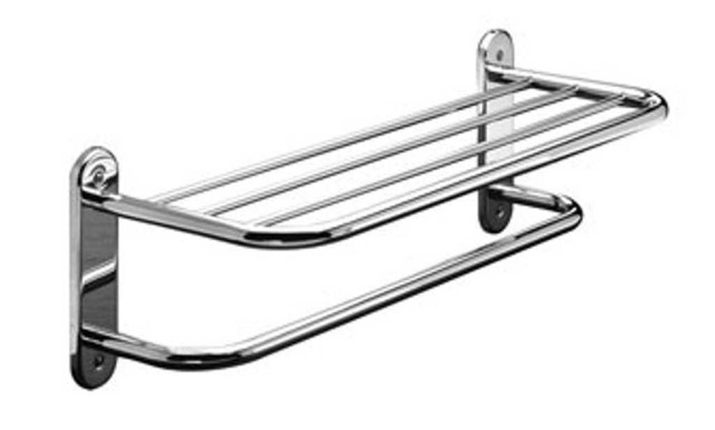 Taymor Hotel 24-Inch Chrome Towel Shelf with Single Bar