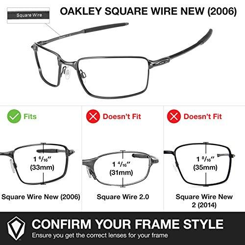 New Square Wire Verres pour rechange 2006 Oakley de qpzwY
