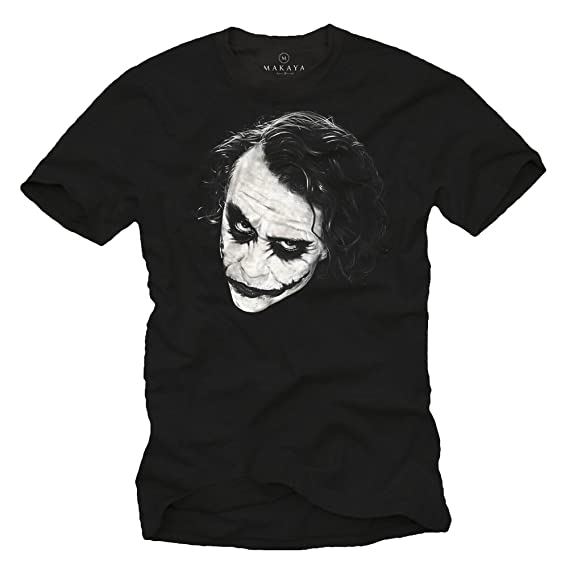 MAKAYA Camiseta Joker Hombre - WHY SO SERIOUS: Amazon.es: Ropa y accesorios