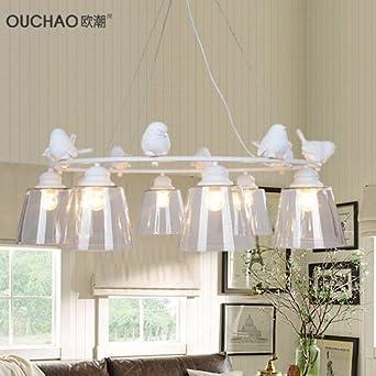 nórdicos moderna minimalista americano creativa lámpara de cristal de Ikea Salón Dormitorio Comedor Jardín Pájaro 3 – Lámpara de techo: Amazon.es: Iluminación