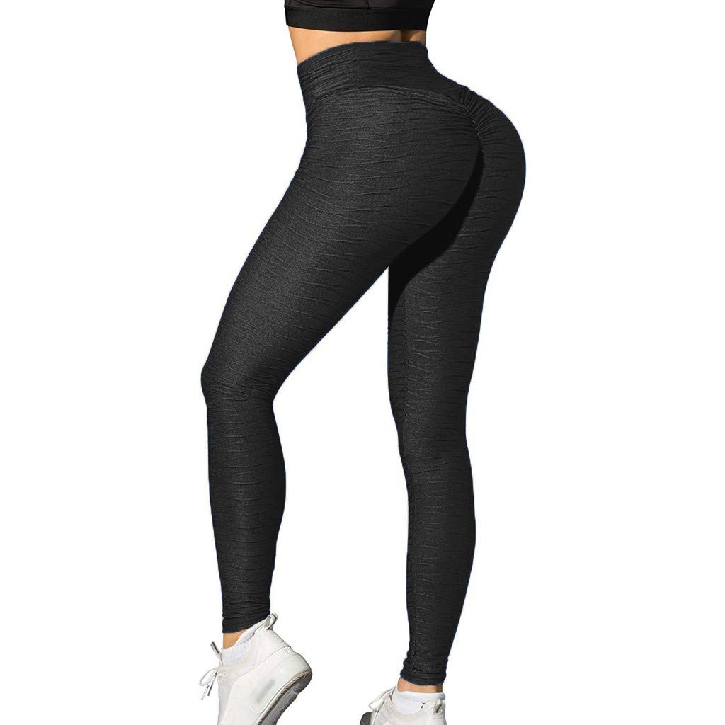 Women Yoga Pants,Stretch Mesh Fitness Leggings Running Athletic Trouser Clothes Axchongery