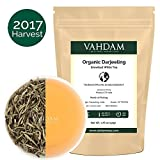 Organic Silver Needle White Tea Leaves from Darjeeling (25 Cups), White Tea Loose Leaf Organic Sourced Direct from High Elevation Estates in the Himalayas, 1.76oz