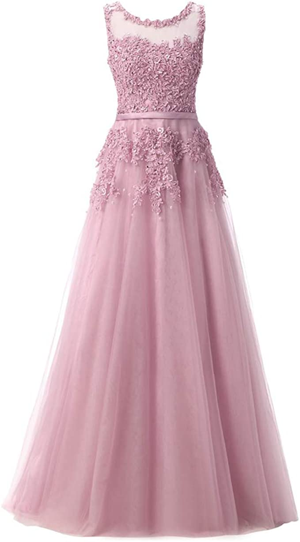 Damen Brautjungferkleid Elegant Ärmellos Spitze Hochzeit Festlich  Abendkleid Cocktailkleid Abiballkleid Ballkleid A Linie Tüll Lang  Prinzessin