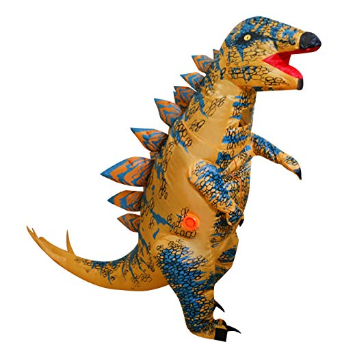 LOLANTA Child Kids Spiny Stegosaurus Inflatable Dinosaur Costume Brown]()