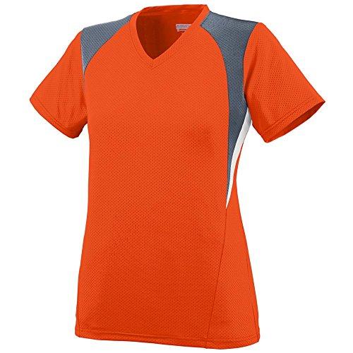 Augusta Sportswear Women's Mystic Jersey S Orange/Graphite/White ()