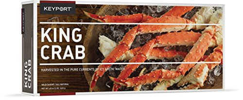 King Crab Legs and Claws - Five Pounds (5lbs) Keyport Wild Caught Frozen King Crab Sustainable Gourmet Fresh Crab Perfect for Special Occasion - Comes with Crab Bibs
