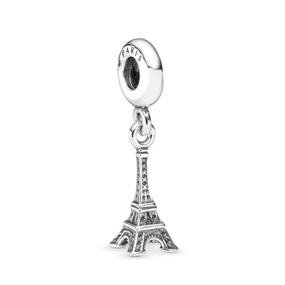 PANDORA Eiffel Tower Dangle Charm, Sterling Silver, One Size by PANDORA