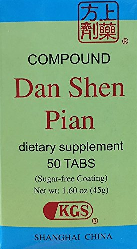 Compound Tablet of Scarlet Root (Fu Fang Dan Shen Pian) 50 Tablets X - Works Herbal Chinese Shanghai