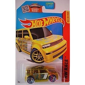 Hot Wheels  Hw Race Scion Xb Translucent Yellow Cast