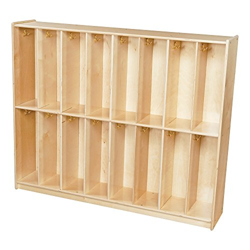 (Sprogs Wooden 16-Section Locker Unit - Unassembled, SPG-41916)