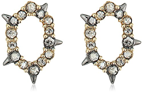 Alexis Bittar Crystal Encrusted Spiked Stud Earrings