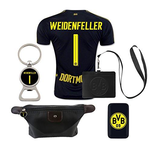 #1 Weidenfeller (6 in 1 Combo) Dortmund Away Match Adult Soccer Jersey 2016-17